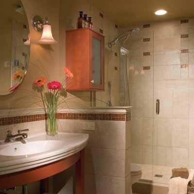 интерьера маленькой ванной комнаты